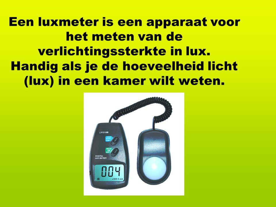 Een luxmeter is een apparaat voor het meten van de verlichtingssterkte in lux.