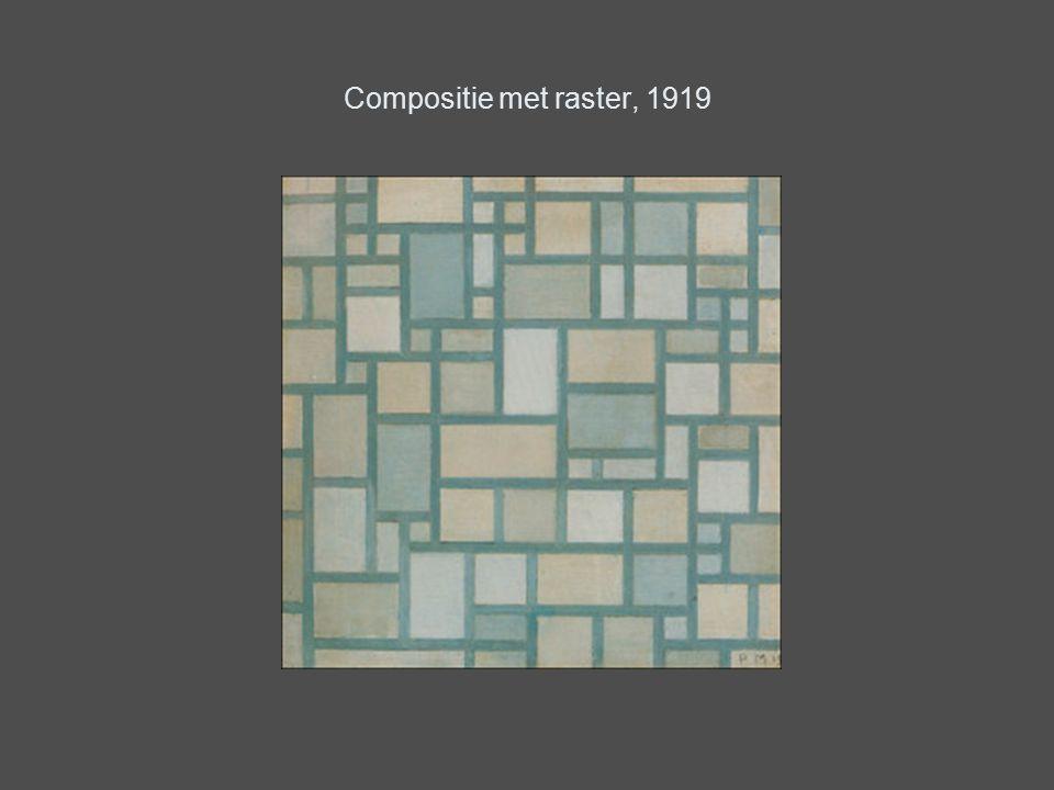 Compositie met raster, 1919
