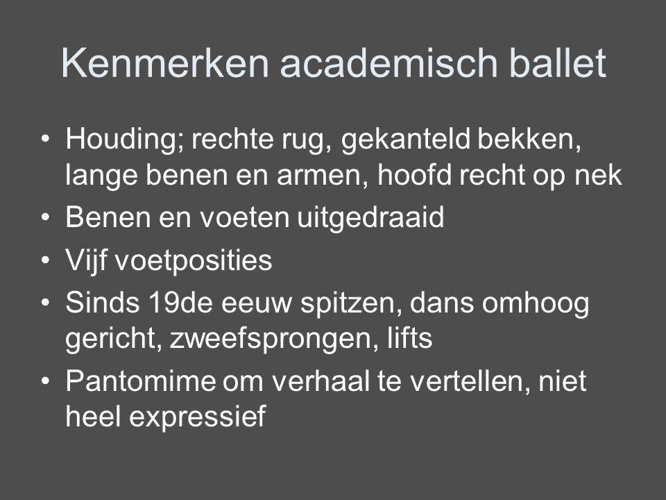 Kenmerken academisch ballet