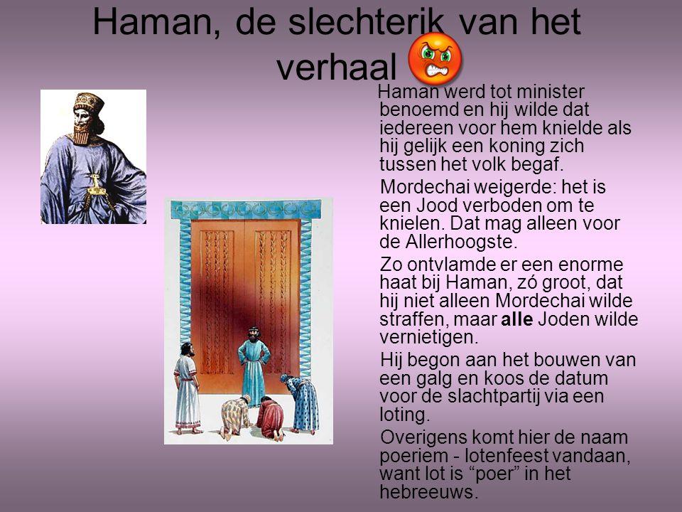 Haman, de slechterik van het verhaal