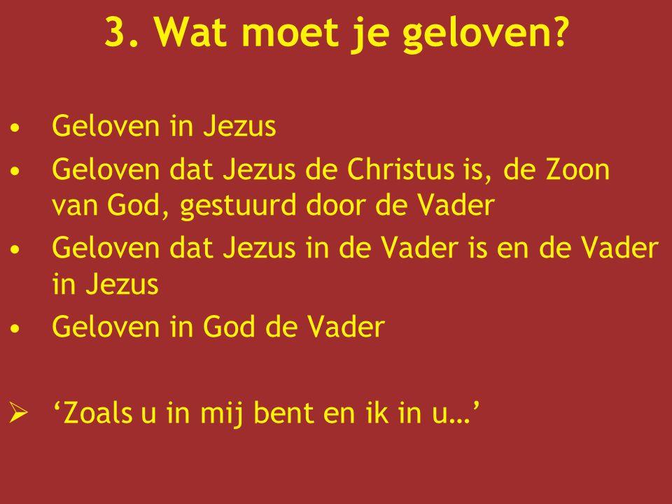 3. Wat moet je geloven Geloven in Jezus