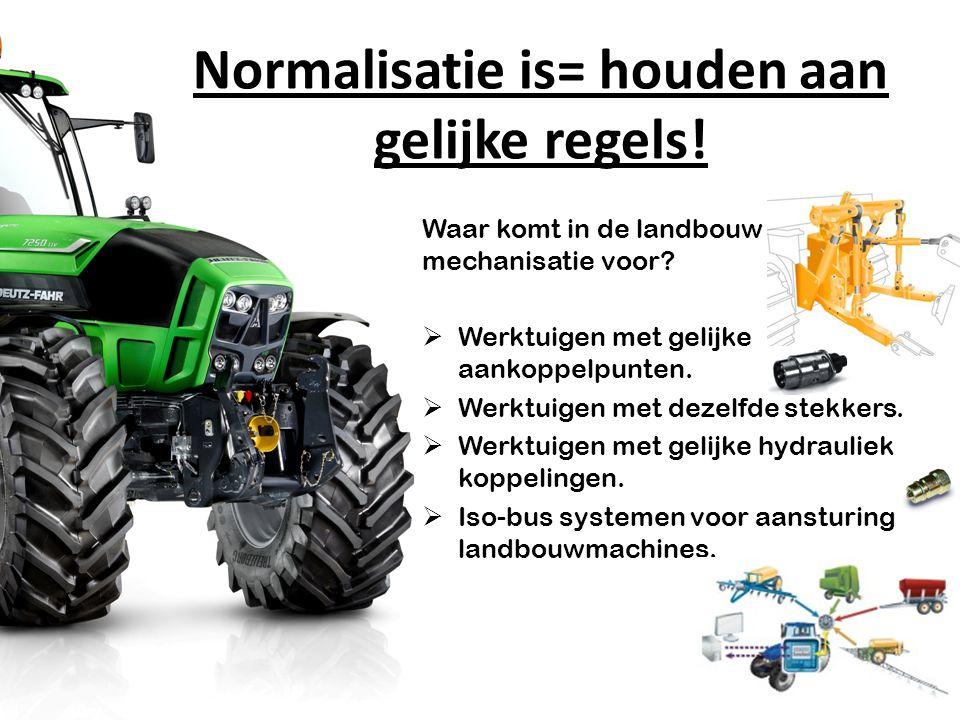 Normalisatie is= houden aan gelijke regels!