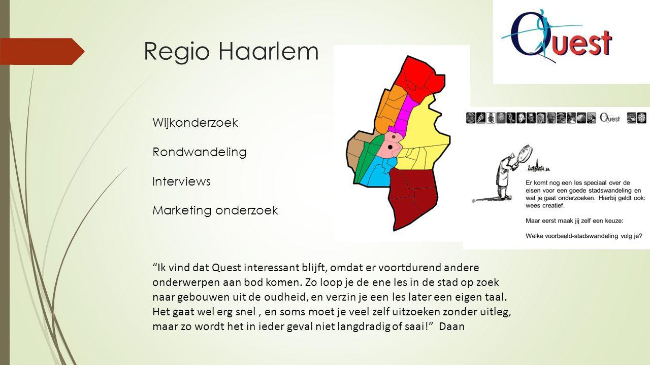 Regio Haarlem Wijkonderzoek Rondwandeling Interviews