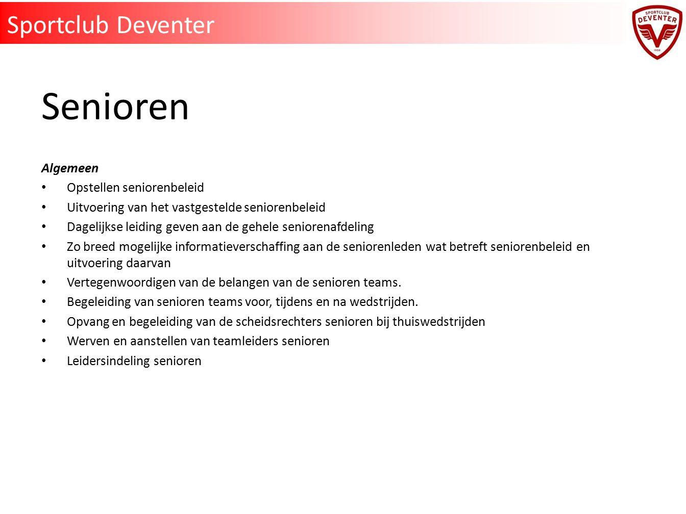 Senioren Sportclub Deventer Algemeen Opstellen seniorenbeleid