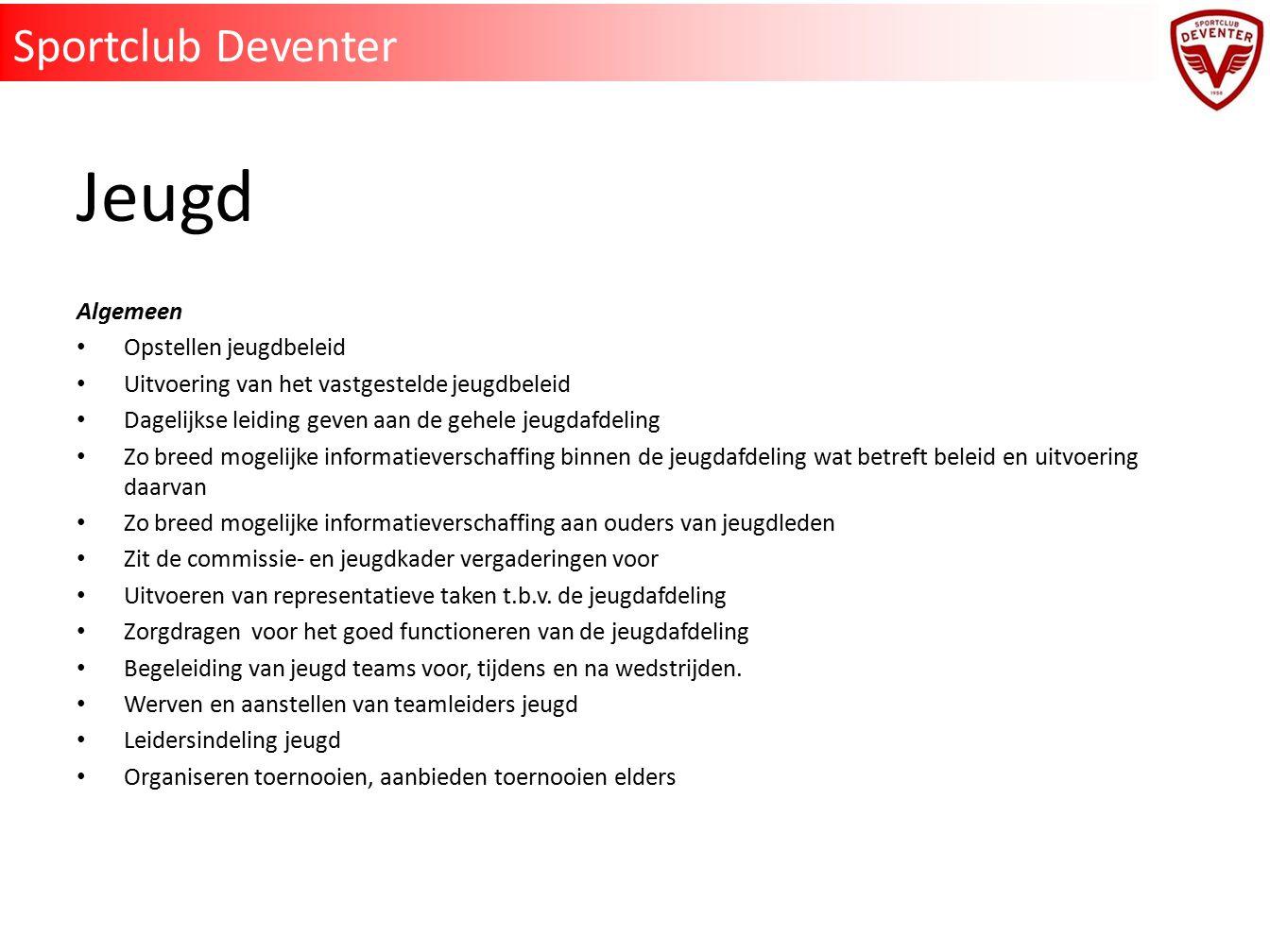 Jeugd Sportclub Deventer Algemeen Opstellen jeugdbeleid