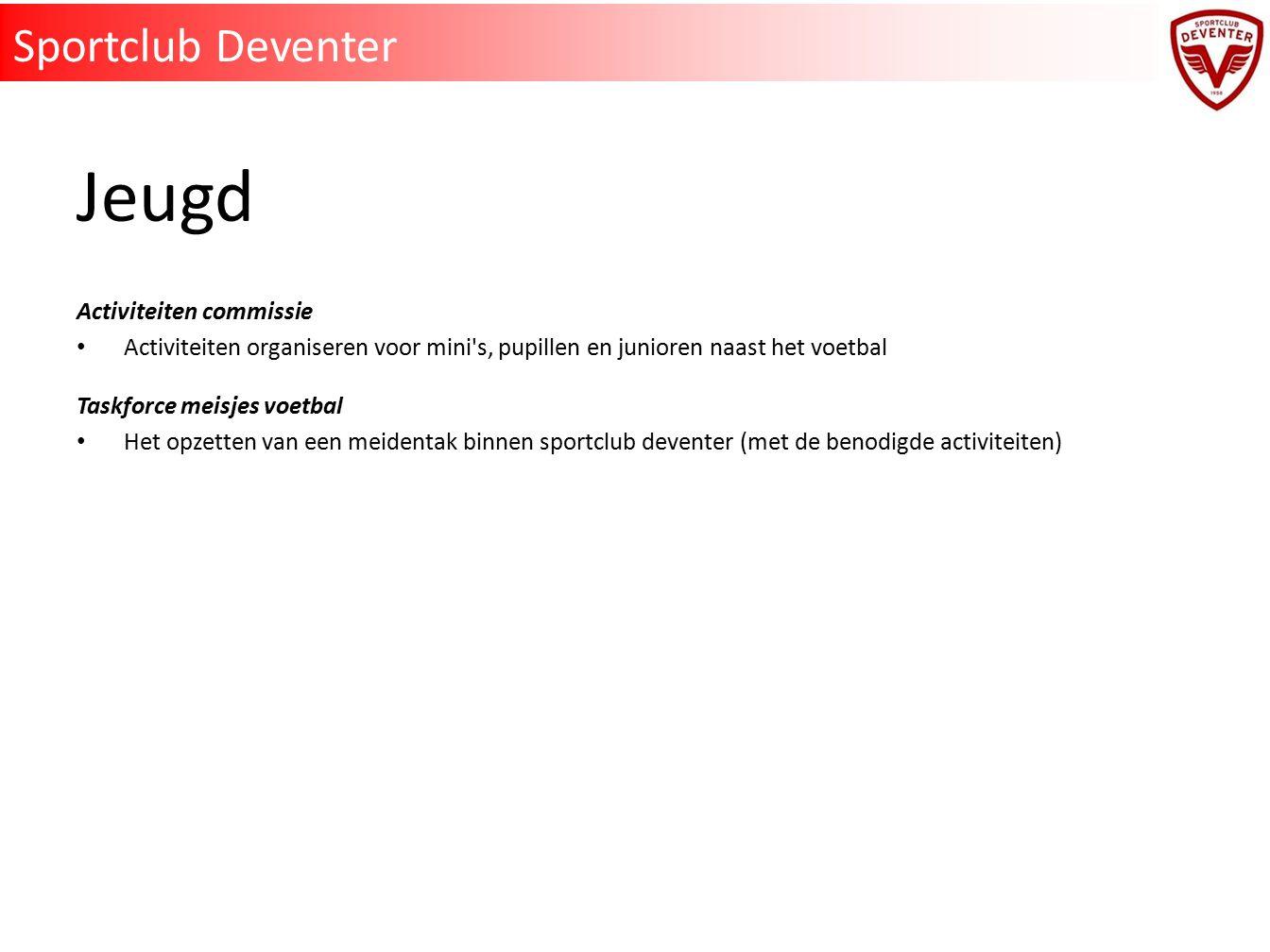 Jeugd Sportclub Deventer Activiteiten commissie