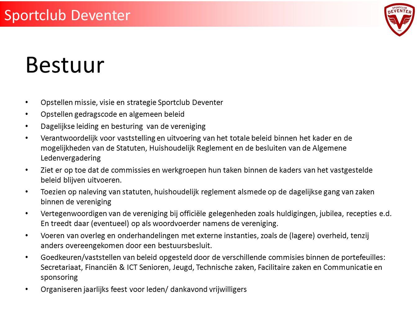 Bestuur Sportclub Deventer