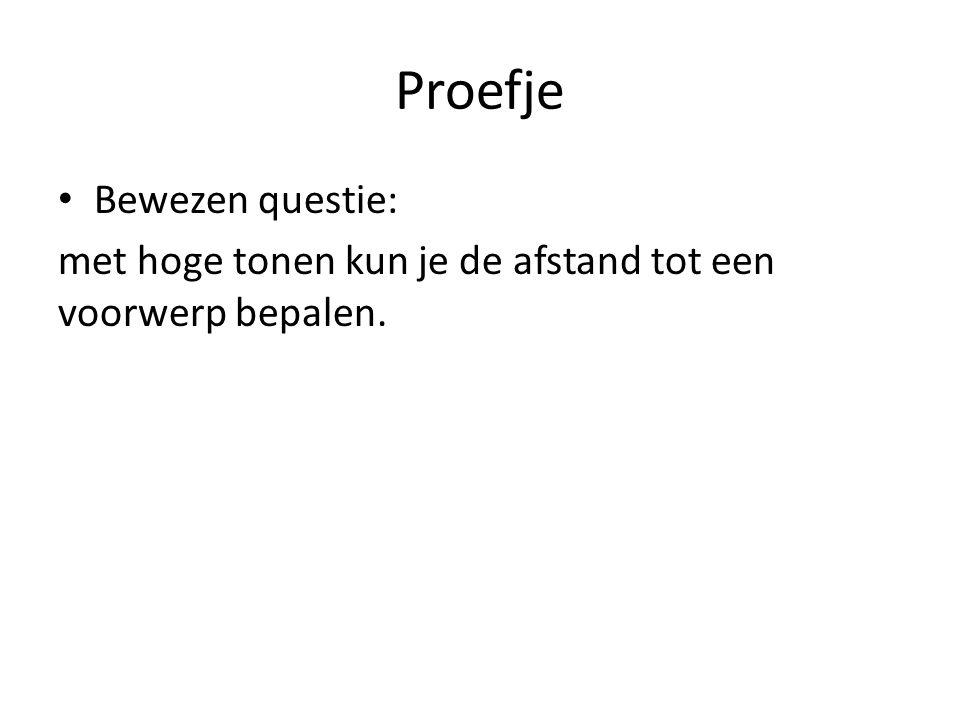 Proefje Bewezen questie: