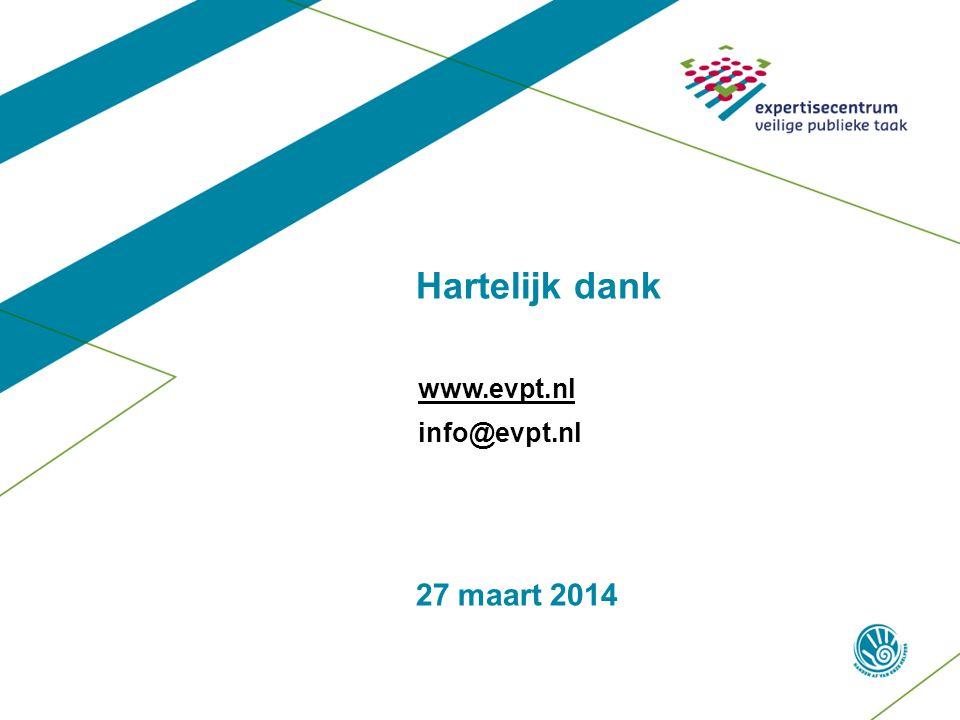 Hartelijk dank www.evpt.nl info@evpt.nl 27 maart 2014