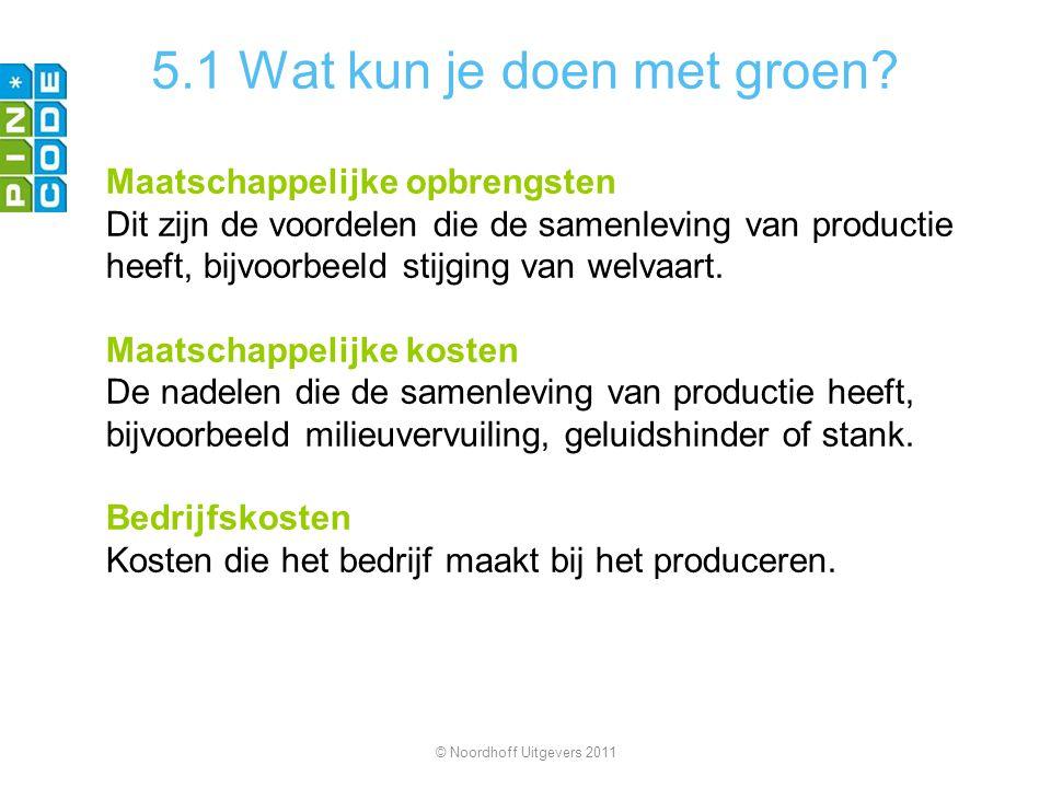5.1 Wat kun je doen met groen