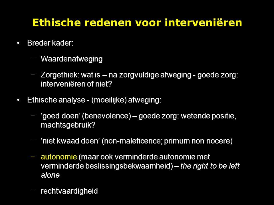 Ethische redenen voor interveniëren
