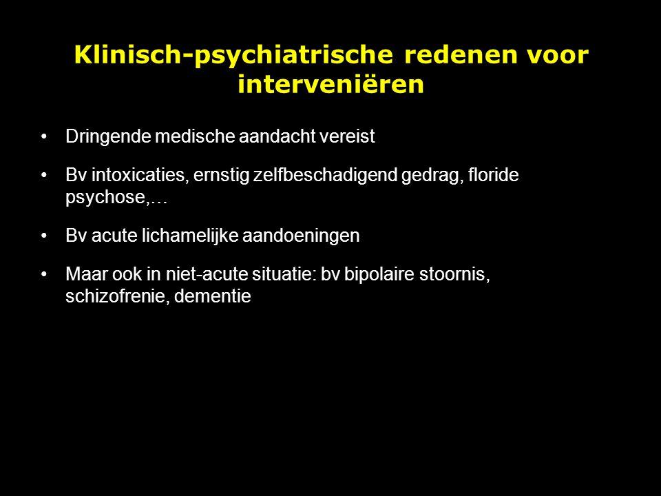 Klinisch-psychiatrische redenen voor interveniëren
