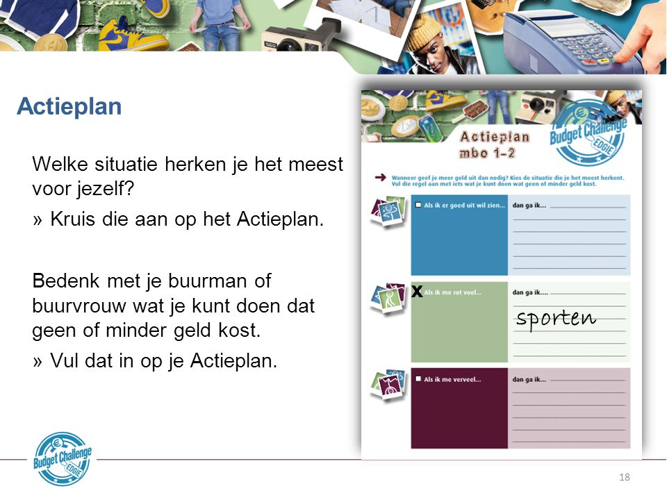 sporten Actieplan x Welke situatie herken je het meest voor jezelf