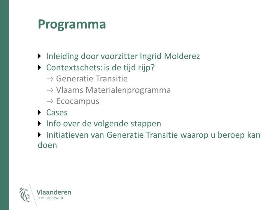 Programma Inleiding door voorzitter Ingrid Molderez