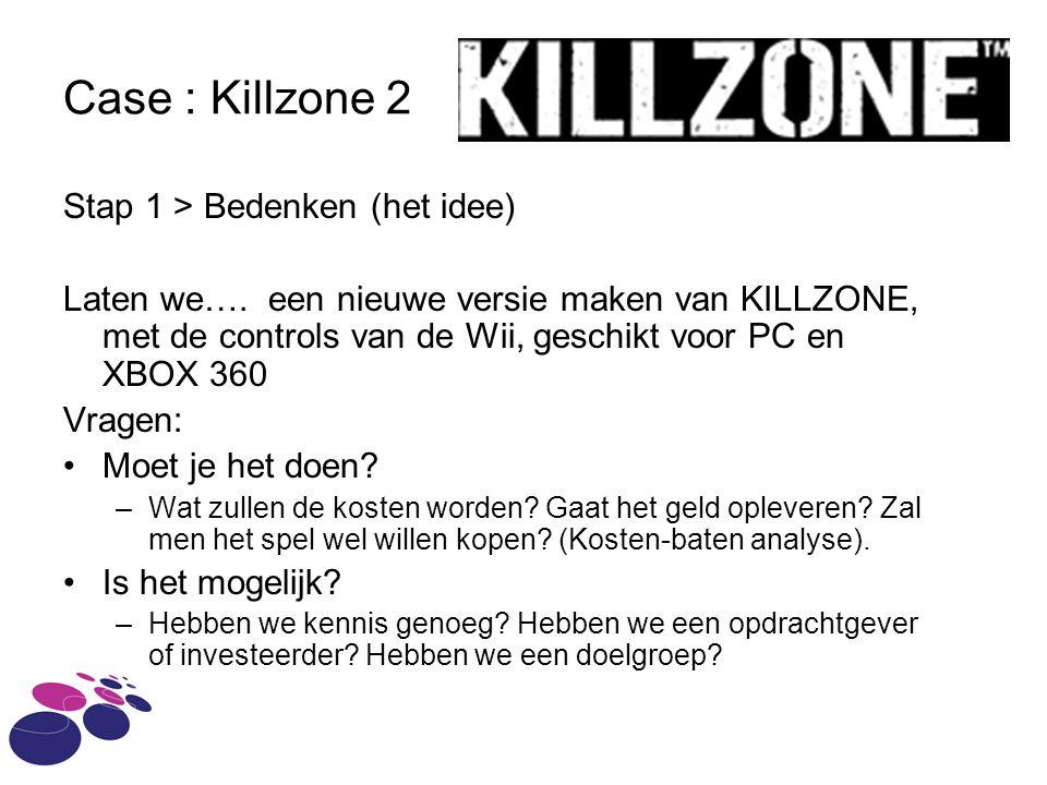 Case : Killzone 2 Stap 1 > Bedenken (het idee)