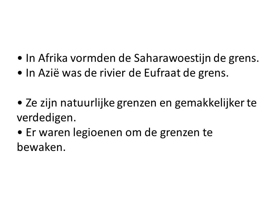 • In Afrika vormden de Saharawoestijn de grens