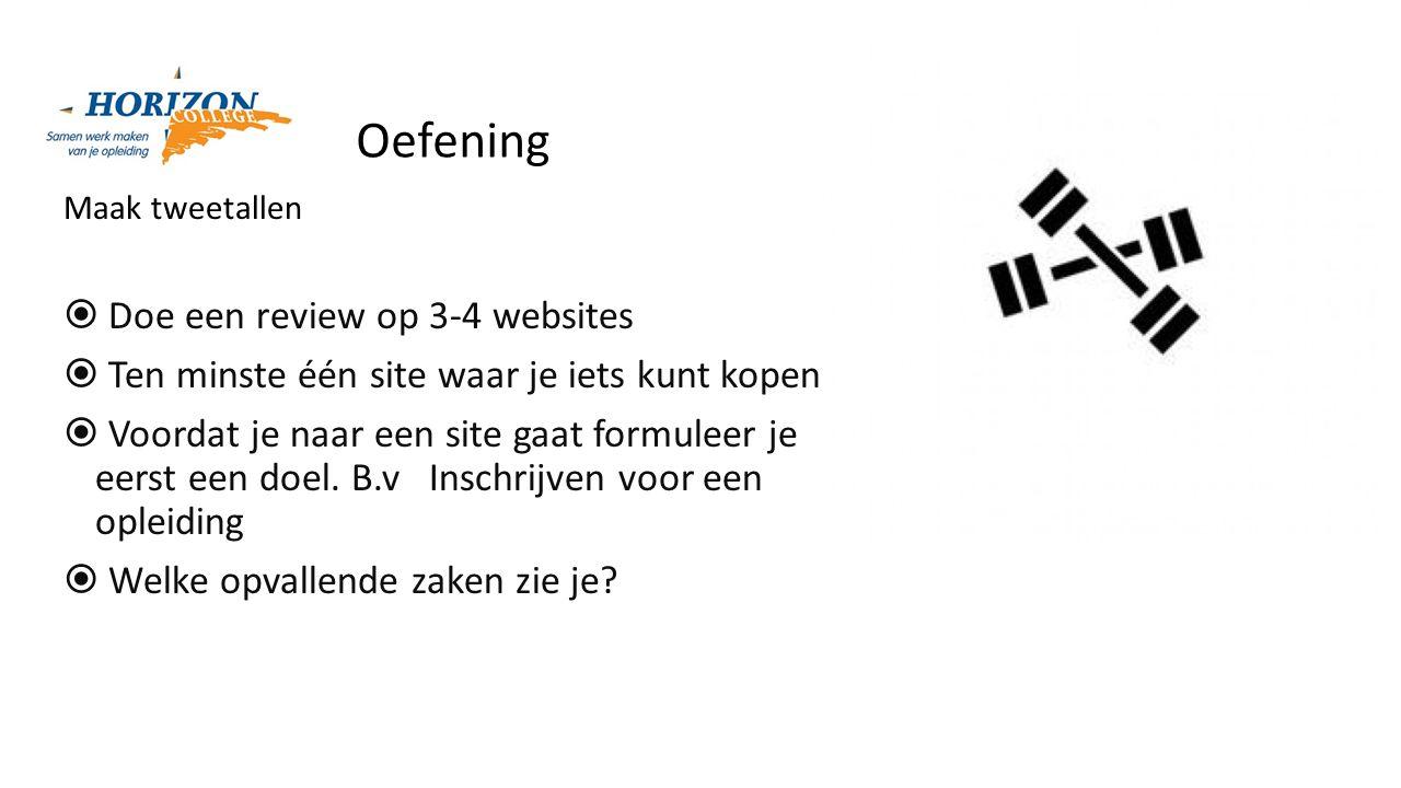 Oefening Doe een review op 3-4 websites