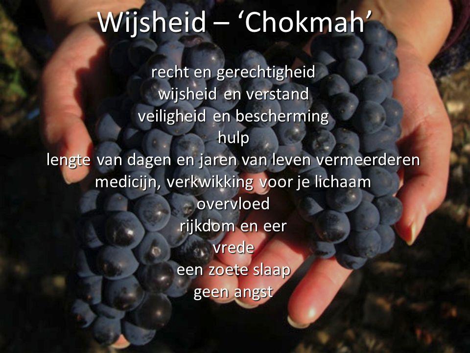 Wijsheid – 'Chokmah' recht en gerechtigheid wijsheid en verstand