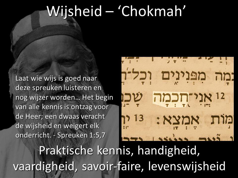 Wijsheid – 'Chokmah'