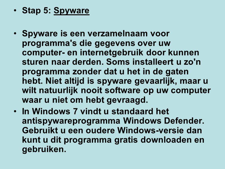 Stap 5: Spyware