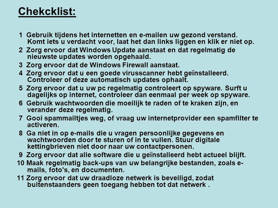 3 Zorg ervoor dat de Windows Firewall aanstaat.