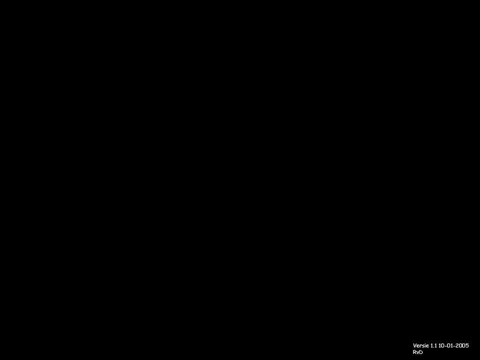 Versie 1.1 10-01-2005 RvD