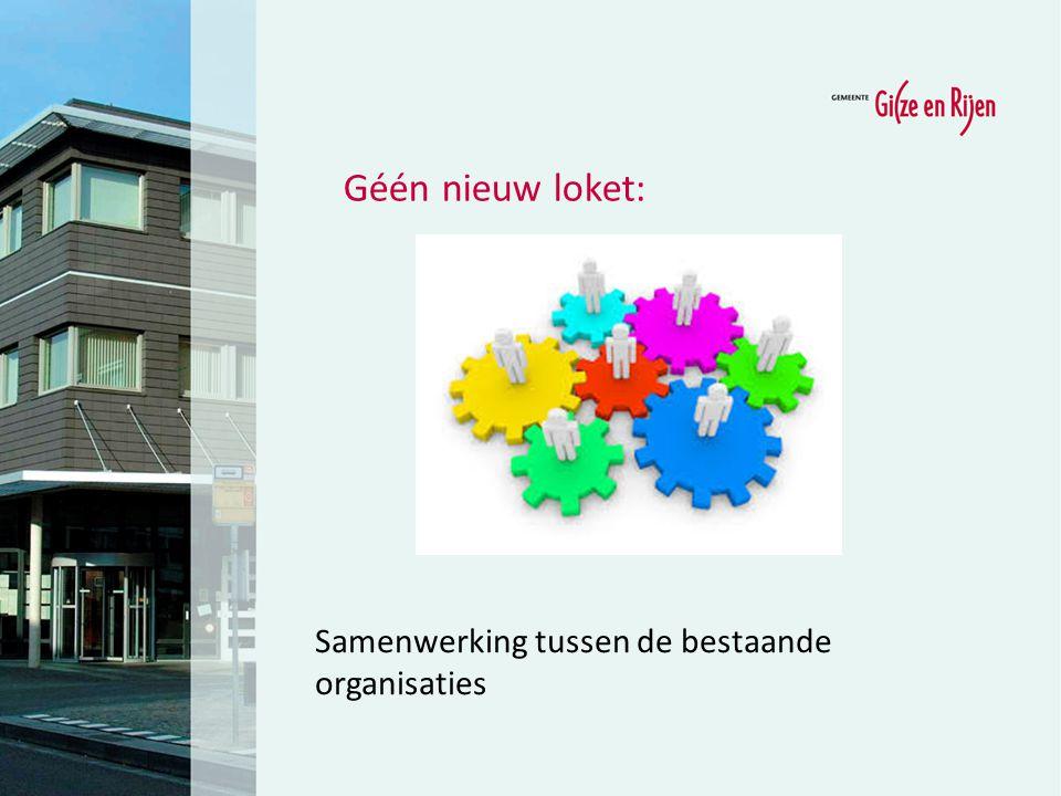Géén nieuw loket: Samenwerking tussen de bestaande organisaties 10