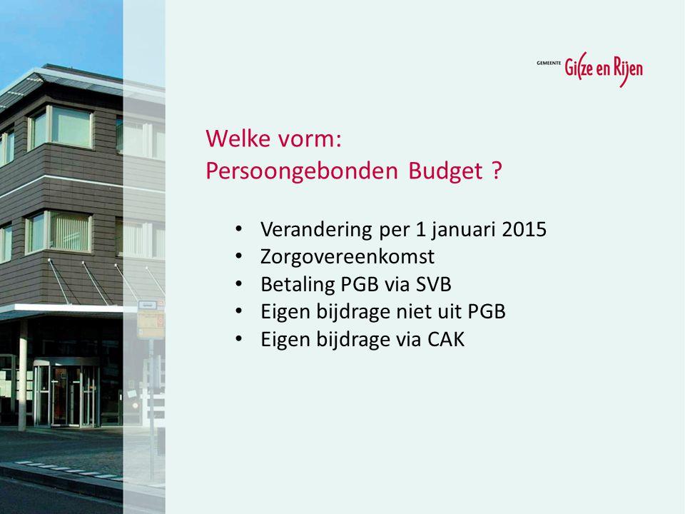 Persoongebonden Budget
