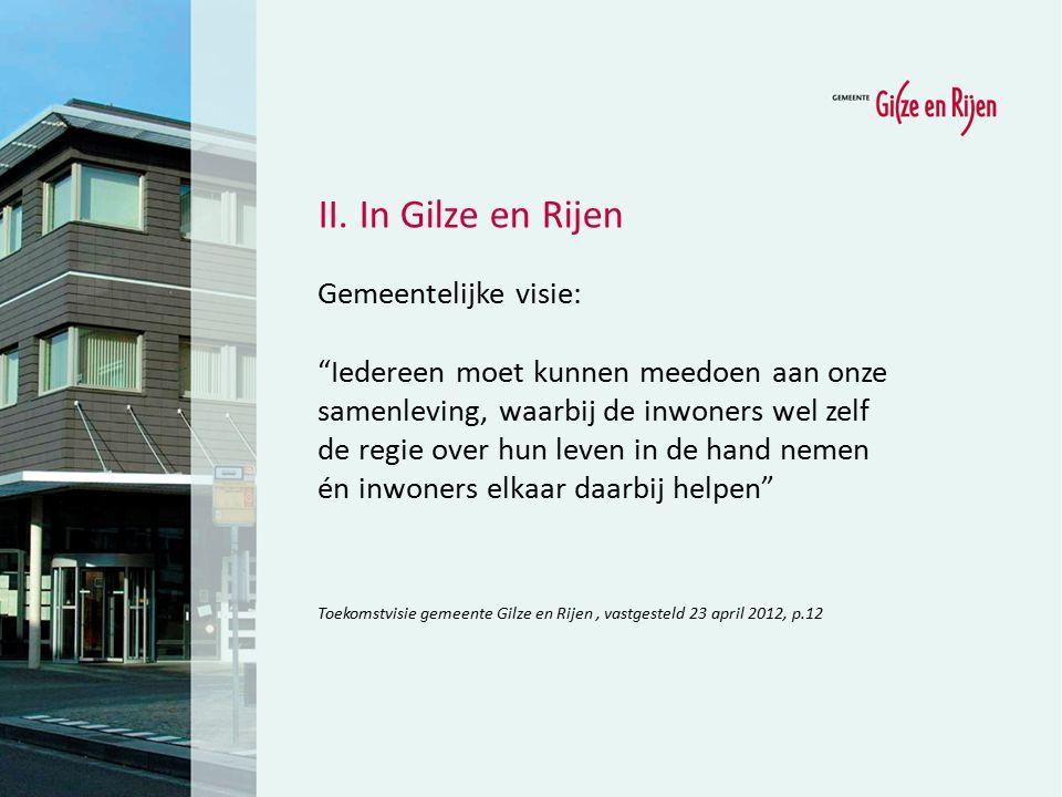 II. In Gilze en Rijen Gemeentelijke visie: