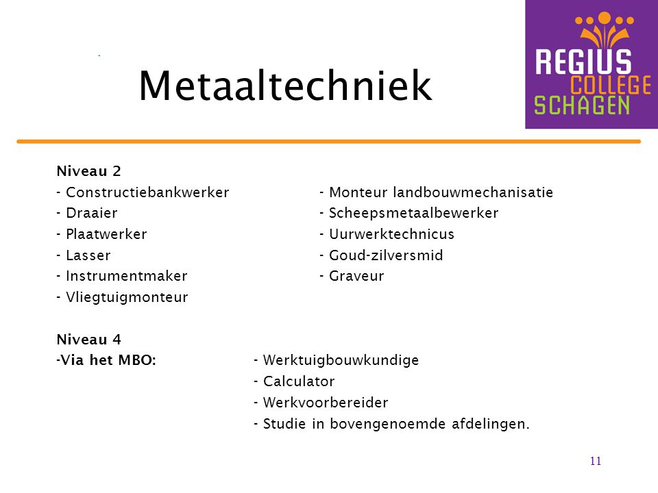 Metaaltechniek Niveau 2