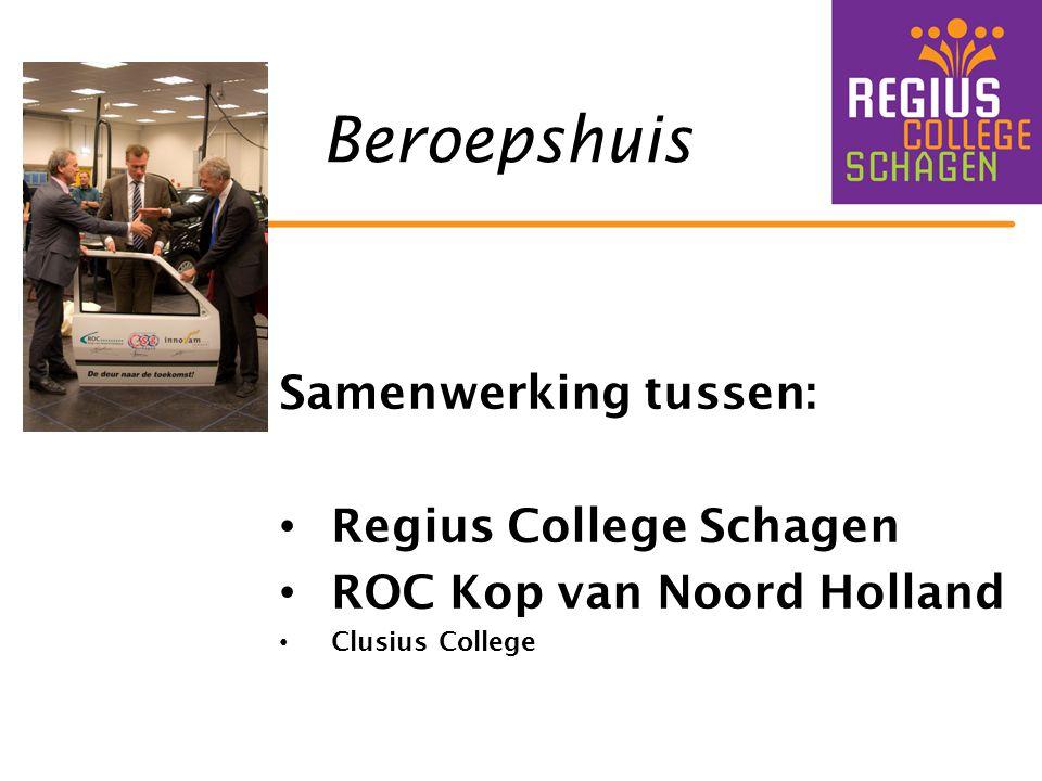 Beroepshuis Samenwerking tussen: Regius College Schagen