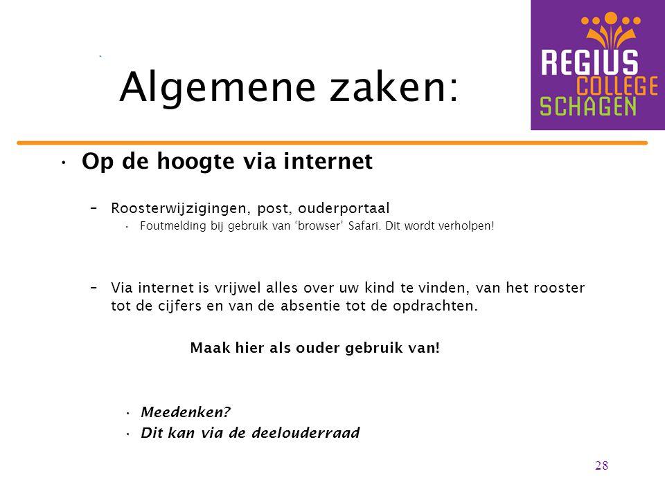 Algemene zaken: Op de hoogte via internet