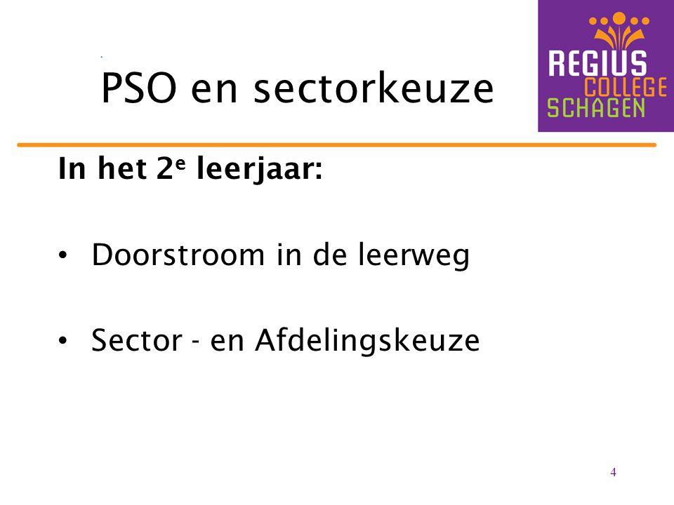 PSO en sectorkeuze In het 2e leerjaar: Doorstroom in de leerweg