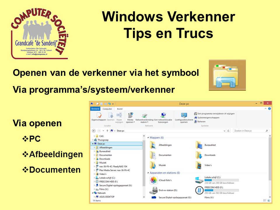 Windows Verkenner Tips en Trucs