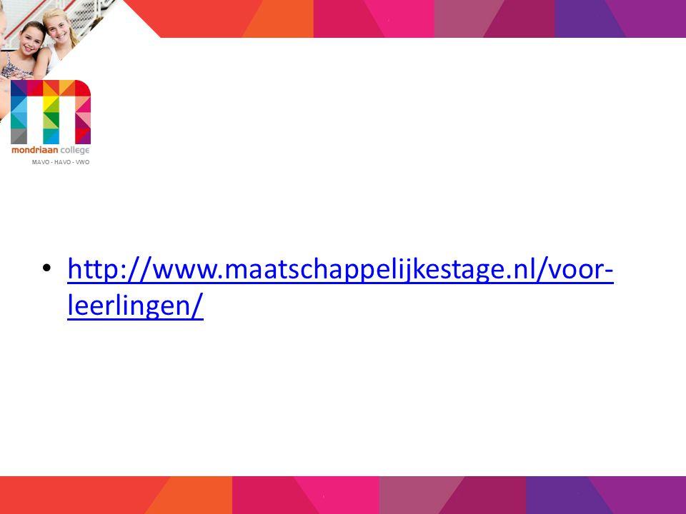 http://www.maatschappelijkestage.nl/voor-leerlingen/