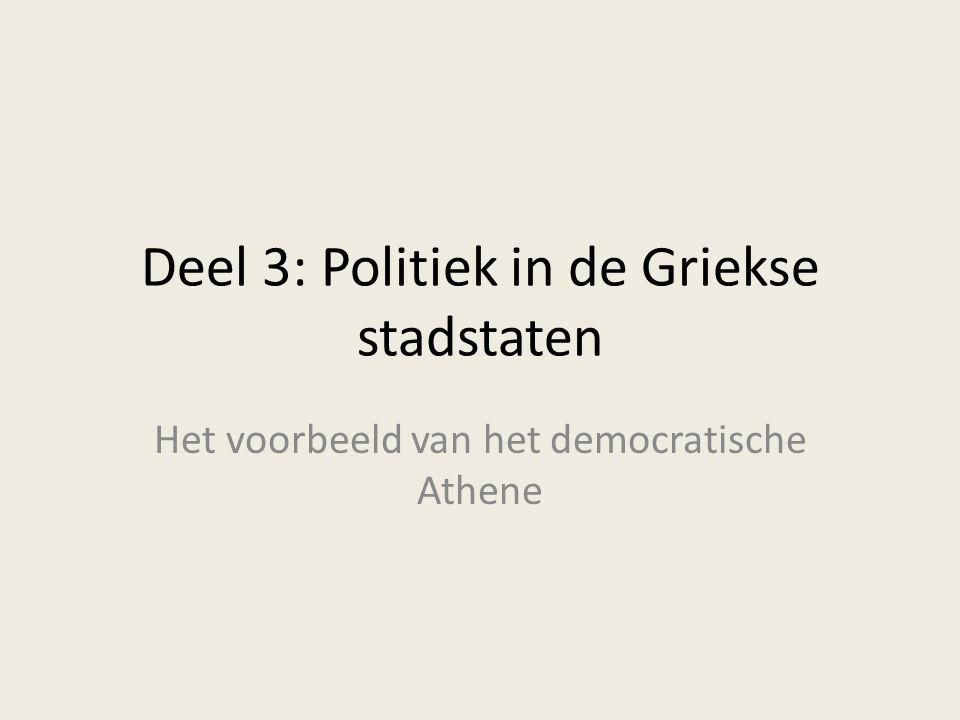 Deel 3: Politiek in de Griekse stadstaten