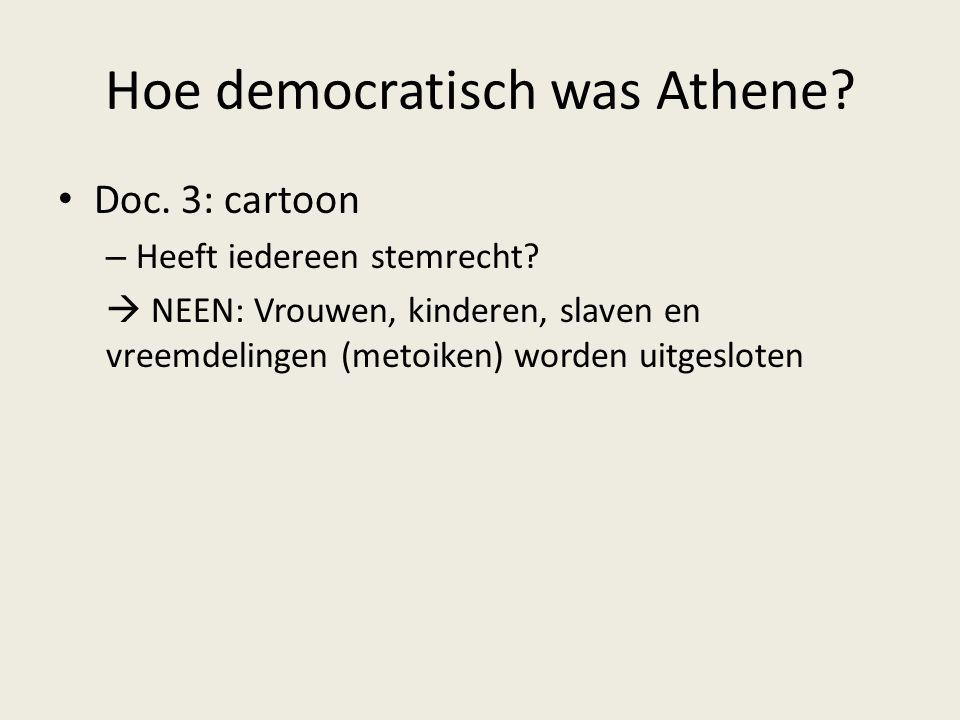 Hoe democratisch was Athene
