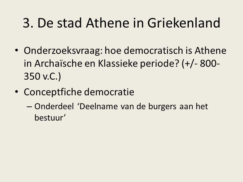 3. De stad Athene in Griekenland