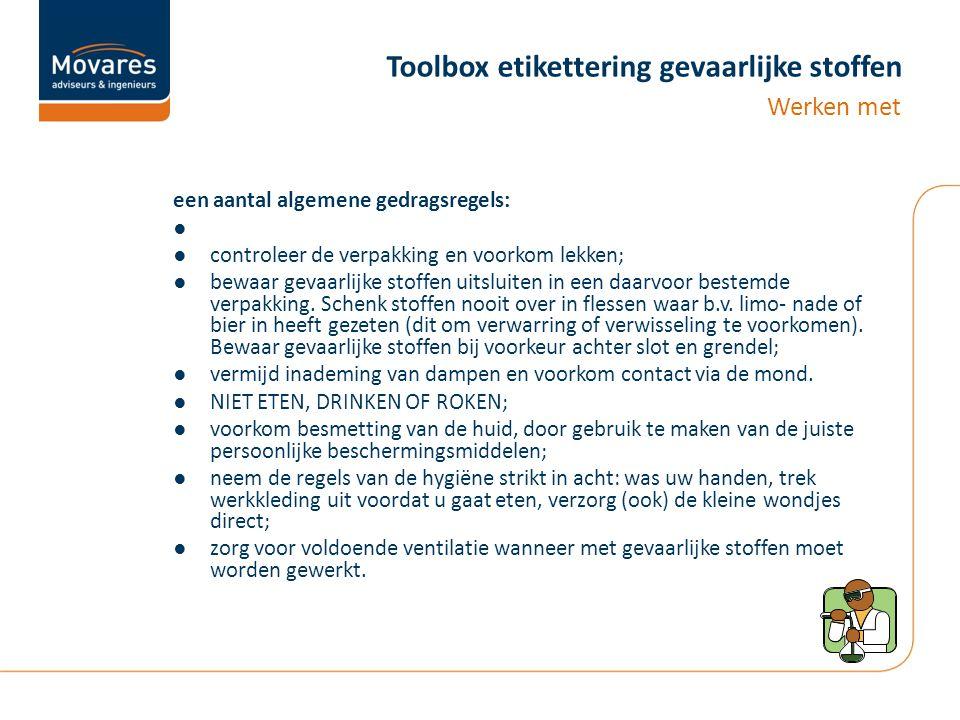 Toolbox etikettering gevaarlijke stoffen