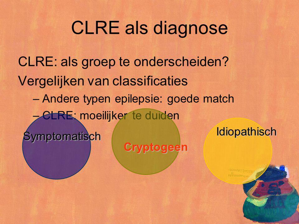 CLRE als diagnose CLRE: als groep te onderscheiden