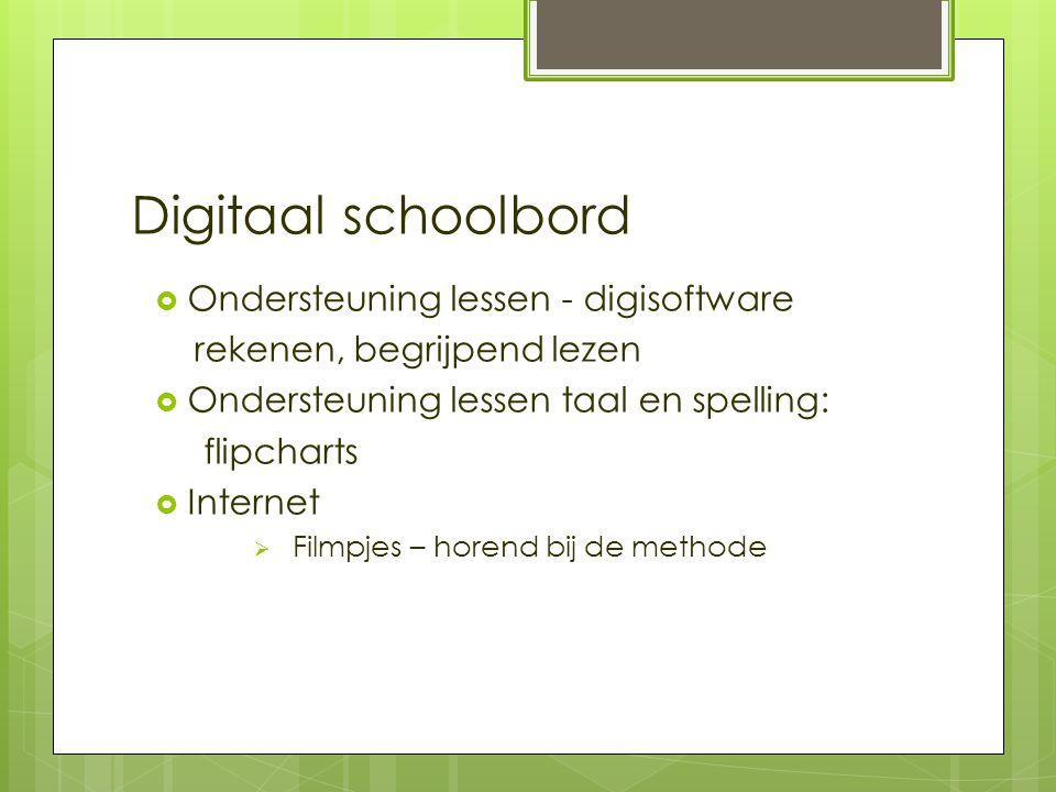 Digitaal schoolbord Ondersteuning lessen - digisoftware