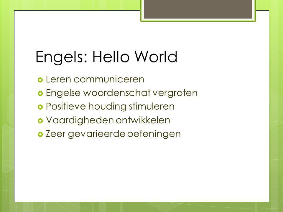 Engels: Hello World Leren communiceren Engelse woordenschat vergroten