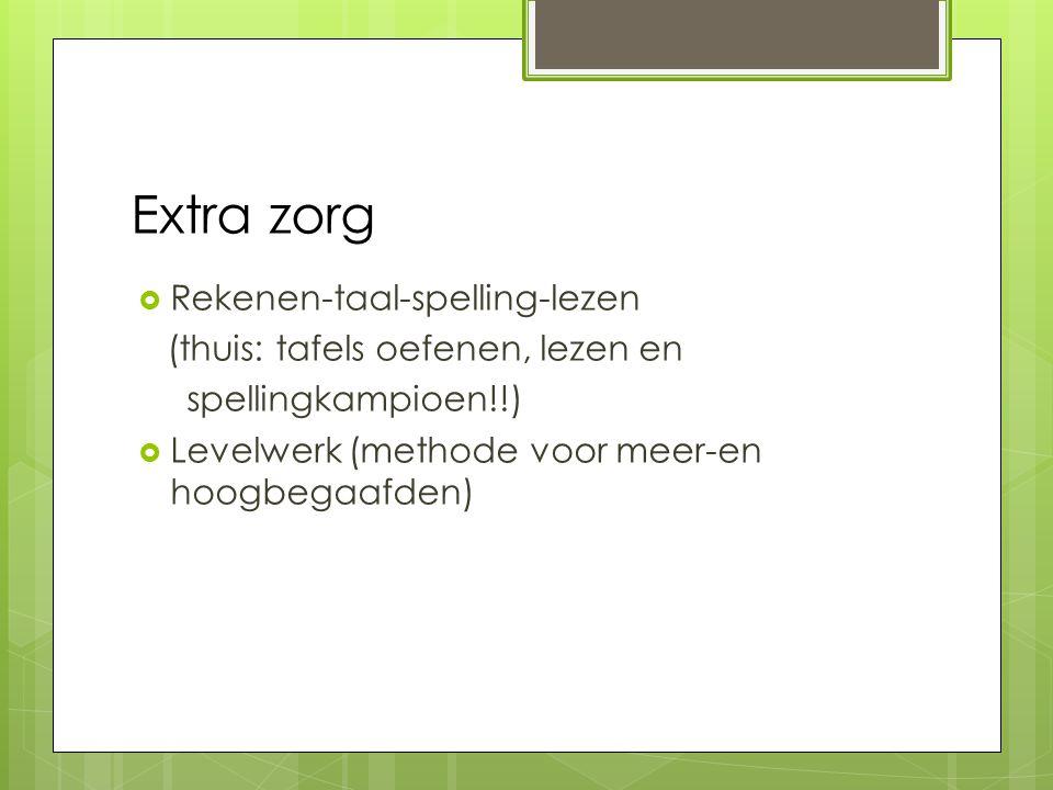 Extra zorg Rekenen-taal-spelling-lezen