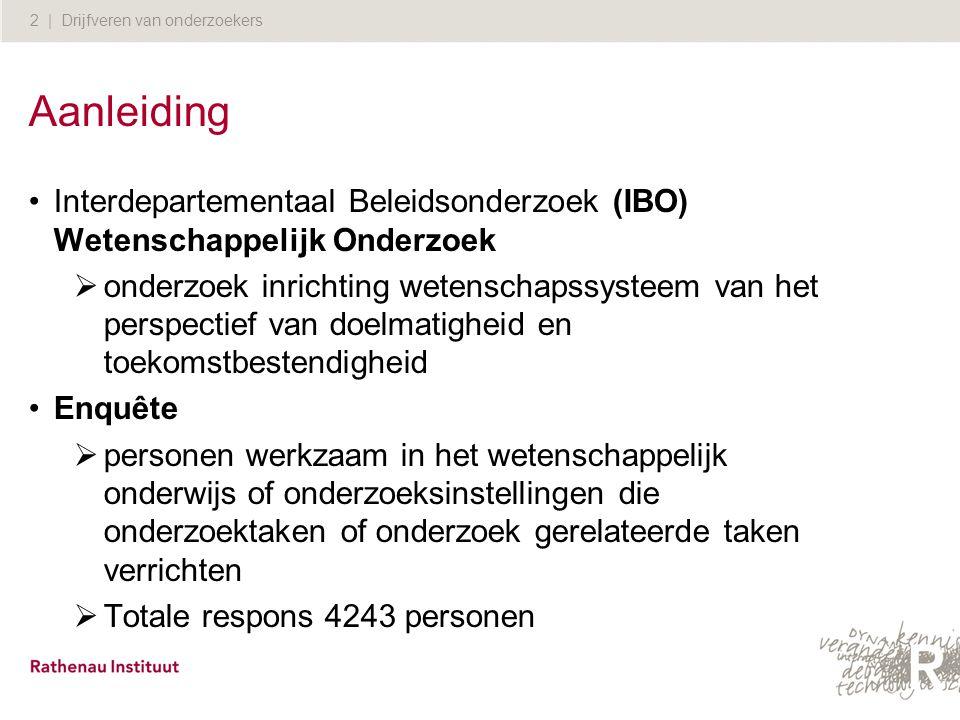 Aanleiding Interdepartementaal Beleidsonderzoek (IBO) Wetenschappelijk Onderzoek.