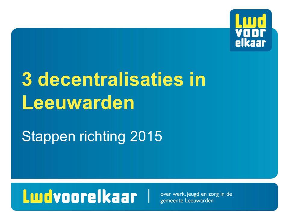 3 decentralisaties in Leeuwarden