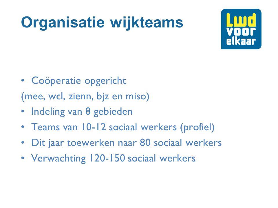 Organisatie wijkteams