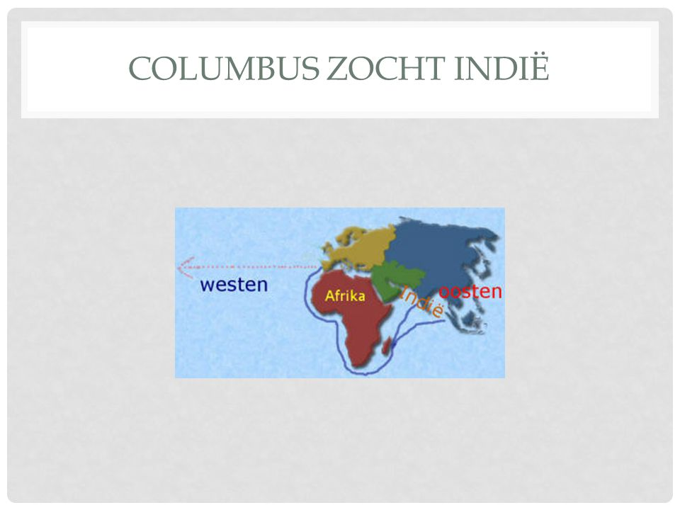 Columbus zocht Indië