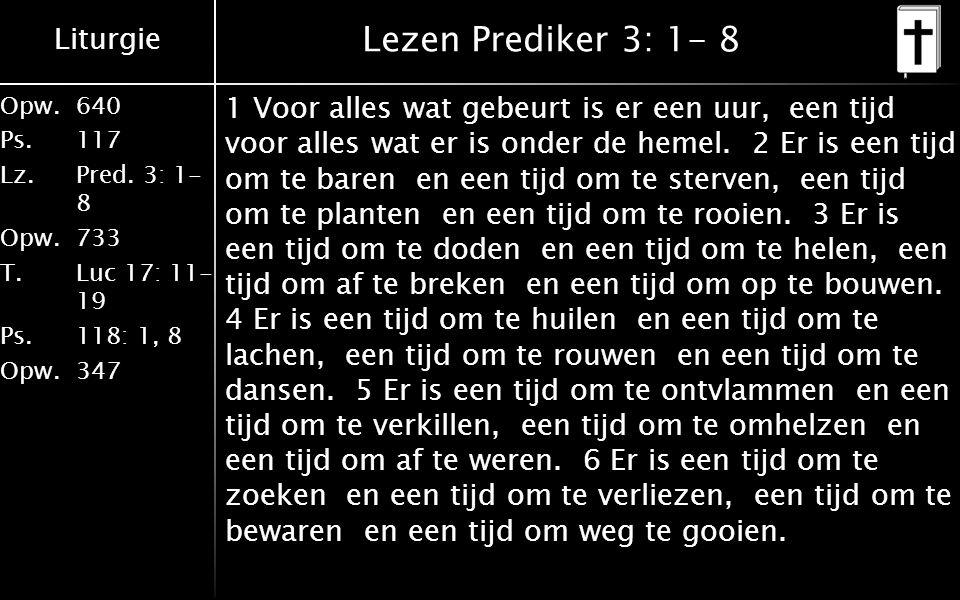 Lezen Prediker 3: 1- 8