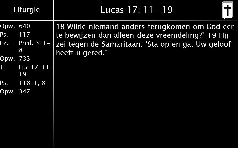 Lucas 17: 11- 19