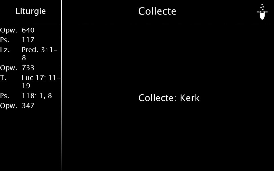 Collecte Collecte: Kerk